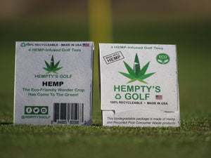"Hempty's Golf™  Eco-Friendly  3"" Hemp Golf Tees"