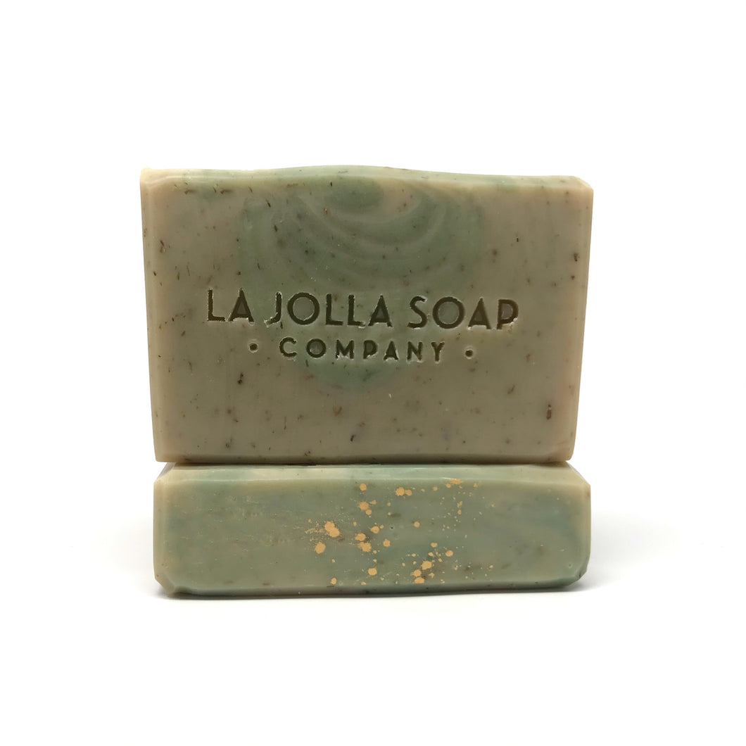 This Artisan Soap is made with plant-based oils and butters that will gently cleanse while maintaining your skin's natural moisture balance. Scented with pure essential oils, notes of sweet basil, cilantro and citrus will enliven your senses and uplift your spirits. Enjoy!