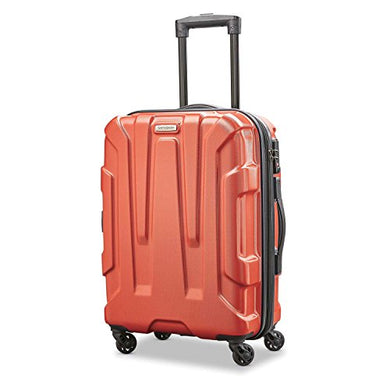 Samsonite Centric Expandable Hardside Carry On Luggage with Spinner Wheels, 20 Inch, Burnt Orange