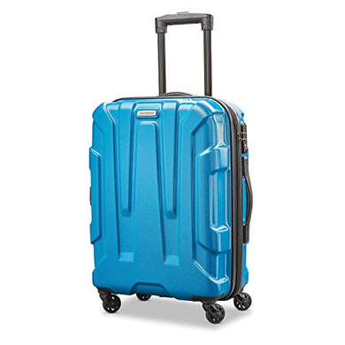 Samsonite Centric Expandable Hardside Carry On Luggage with Spinner Wheels, 20 Inch, Caribbean Blue