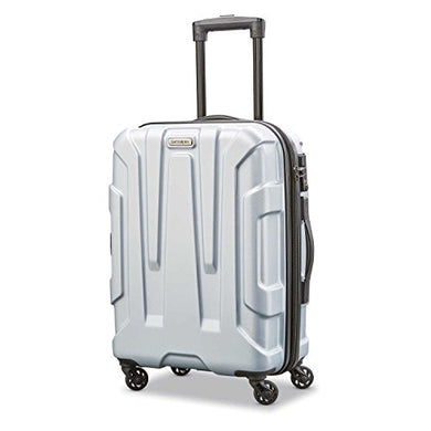 Samsonite Centric Expandable Hardside Carry On Luggage with Spinner Wheels, 20 Inch, Silver