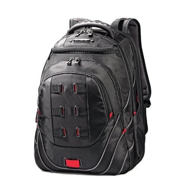 Samsonite Luggage Tectonic Backpack, Black/Red