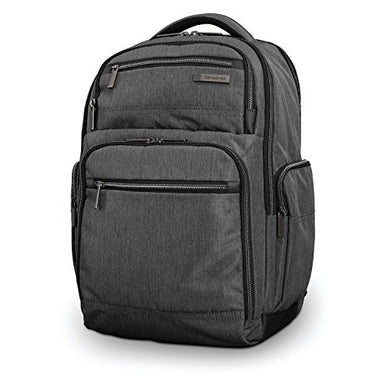 Samsonite Modern Utility Double Shot Backpack Laptop, Charcoal Heather, One Size