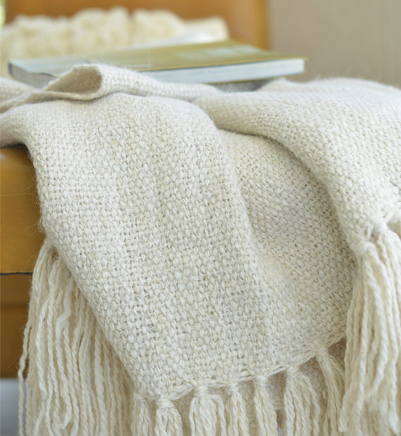 Llama Blanket Small - Natural