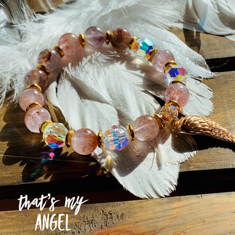 That's My Angel | Guardian Angel Jewelry | Inspirational Swarovski Jewelry | Auralite 23 Jewelry | Christmas Gift for Her
