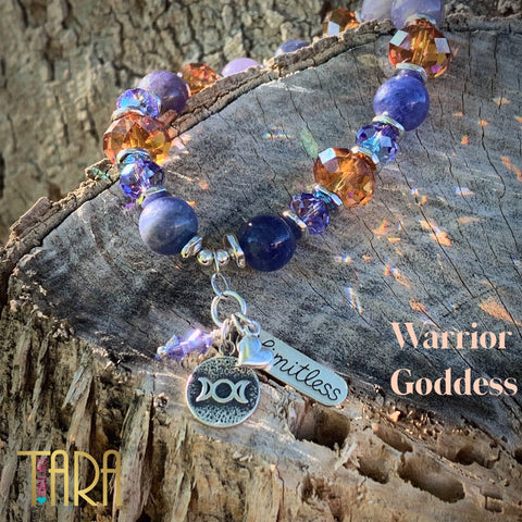 Warrior Goddess Tanzanite Bracelet | Inspirational Swarovski Jewelry | Christmas Gift For Her