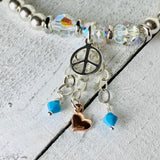 Peace Within | Amazonite Jewelry | Peace Bracelet | Inspirational Swarovski Jewelry | Christmas Gift for Her