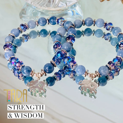 Wisdom & Strength Elephant Bracelet | Jade Jewelry | Inspirational Swarovski Jewelry | Christmas Gift for Her