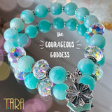 The Courageous Goddess | Mandala Jewelry | Amazonite Bracelet | Inspirational Swarovski Jewelry | Valentine's Day Gift for Her
