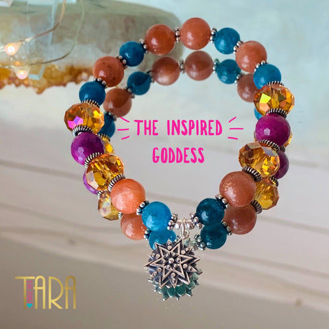 The Inspired Goddess | Mandala Jewelry | Mala | Inspirational Swarovski Jewelry | Valentine's Day Gift for Her