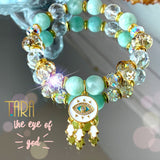The Eye of God | Green Angelite | Inspirational Swarovski Jewelry