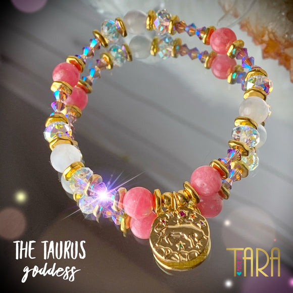 Zodiac Expressions | The Companion Crystal | Taurus Goddess Bracelet ~ Inspirational Swarovski Crystal  & Gemstone Jewelry
