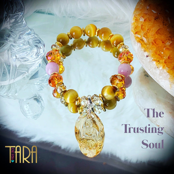 The Trusting Soul | Mala Bracelet | Inspirational Swarovski Jewelry | Gemstone Jewelry | Prayer Bracelet  | Mother's Day Gift