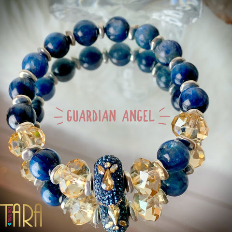 My Guardian Angel | Kyanite Jewelry | Inspirational Swarovski Jewelry | Mother's Day Gift |