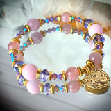 Zodiac Expressions | The Companion Crystal | Leo Goddess Bracelet ~ Inspirational Swarovski Crystal  & Gemstone Jewelry