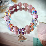 Soul Mates | Rose Quartz & Kunzite Bracelet | Swarovski Inspirational  Jewelry | Mother's Day Gift