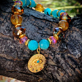 The Eye of God | Brazilian Amazonite & Citrine Jewelry | Inspirational Swarovski Jewelry | Gifts for Her