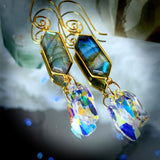 Transformation | Labradorite Earrings | Inspirational Swarovski Earrings| Gifts for Her