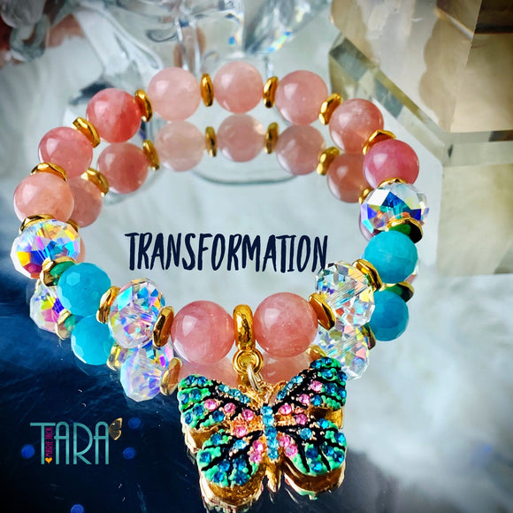 Transformation | Inspirational Swarovski Crystal Jewelry | Crystal Butterfly Jewelry | Statement Bracelet | Anniversary Gift for Her
