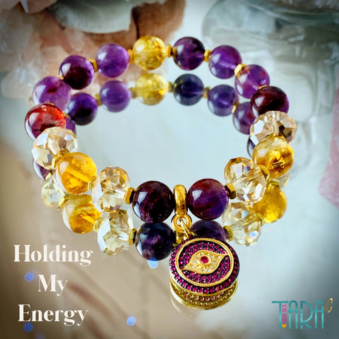 Holding My Energy | Auralite & Citrine Jewelry | Inspirational Swarovski Jewelry | Christmas Gifts for Her