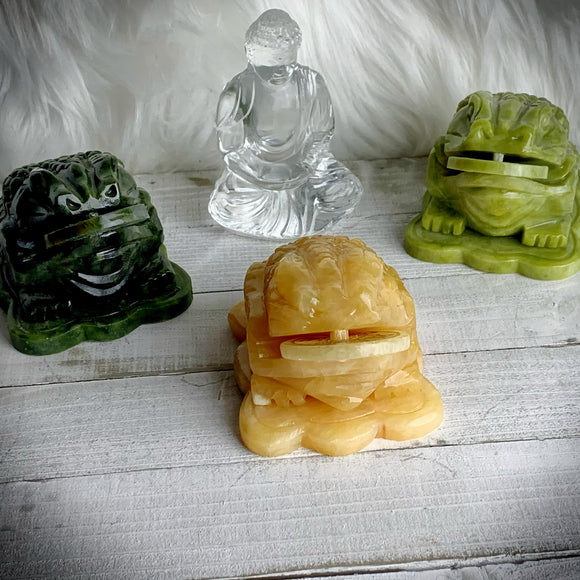 Yellow Jade Money Frog | Yellow Jade Figurine | Jade Frog | Feng Shui | Gift for the home