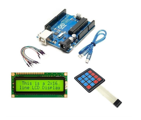 Combo Arduino Uno Kit With Pack Of LCD,USB,Cable, Keypad, 20 Male To Male Connector