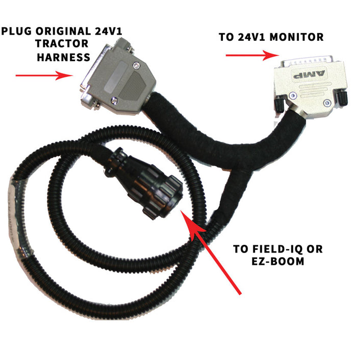 24V1 to Trimble Boom Section Interface Cable