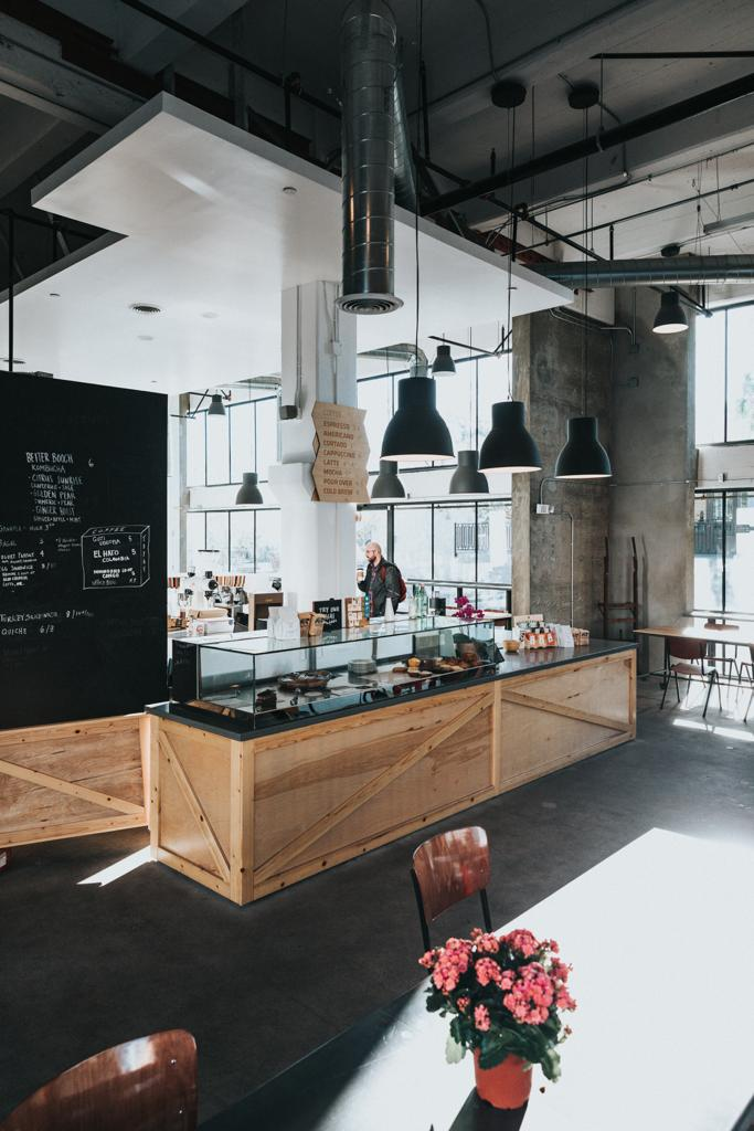 industrial style cafe shop