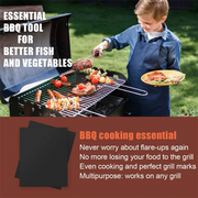 Non-Stick Copper BBQ Grill Mats - 3Pack - Colorado Outfitters