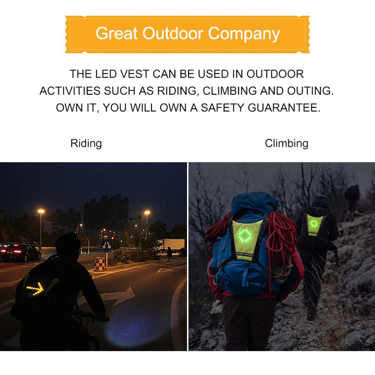 THE LED VEST WITH DIRECTION INDICATORS - Colorado Outfitters