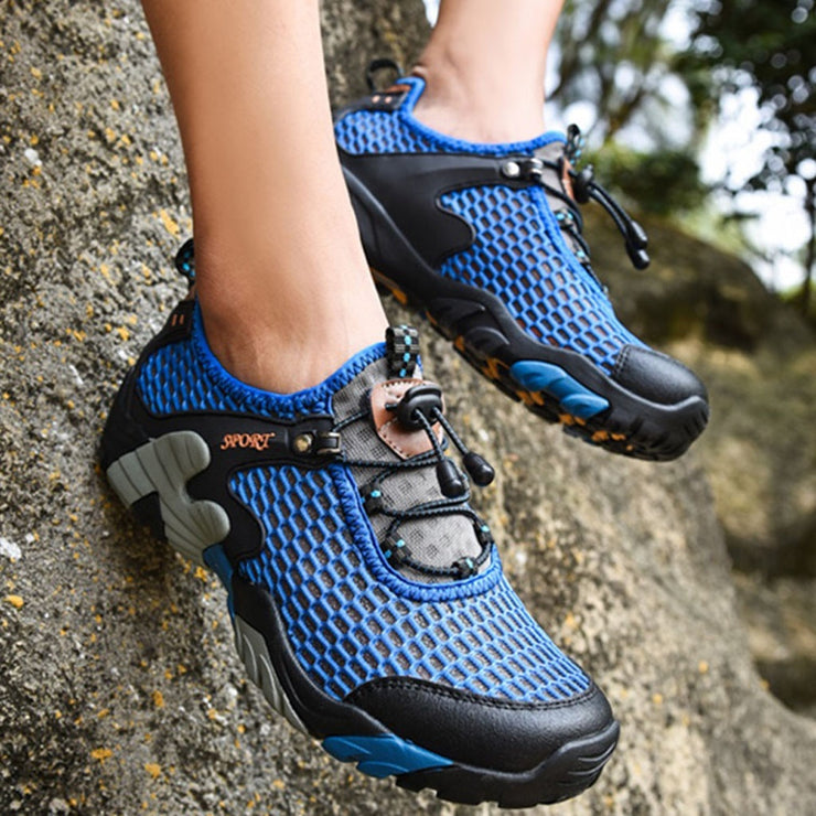 Summer Breathable Men Hiking Shoes Suede + Mesh Outdoor Men Sneakers - Colorado Outfitters
