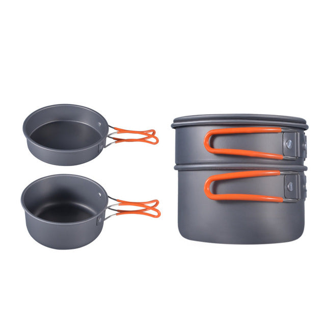 8pcs Outdoor Picnic Cookware Set