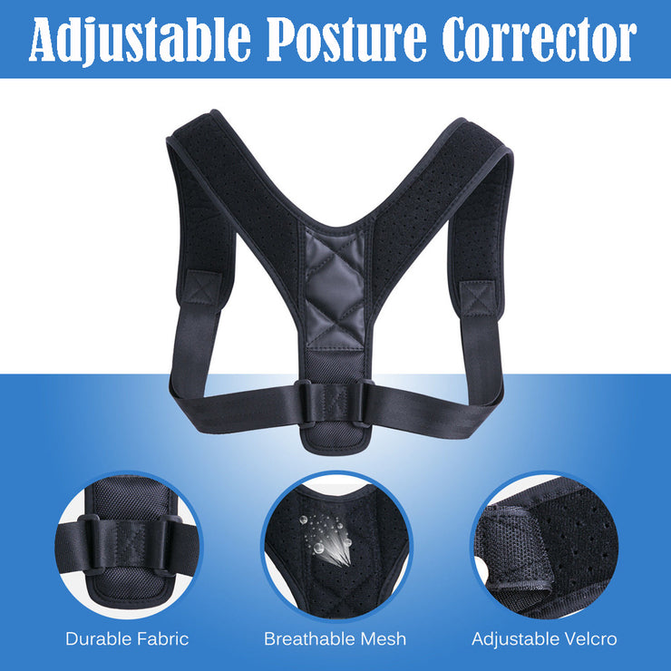 Best Back Brace Posture Corrector with Adjustable Strap - Colorado Outfitters