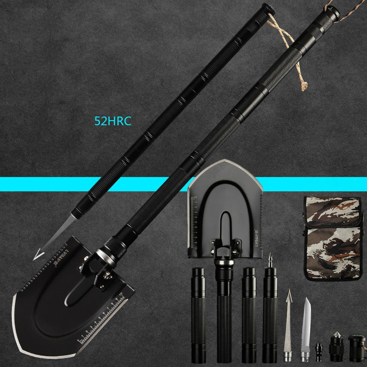 97cm Multi-function Engineering Camping Survival Shovel - Colorado Outfitters