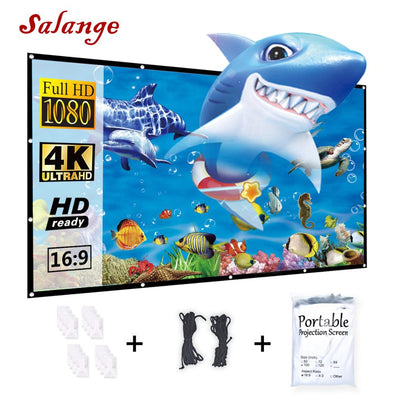 Portable Outdoor 150 Inch 16:9 HD Projection Screen