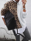 Solid Long-Sleeved Leopard Top