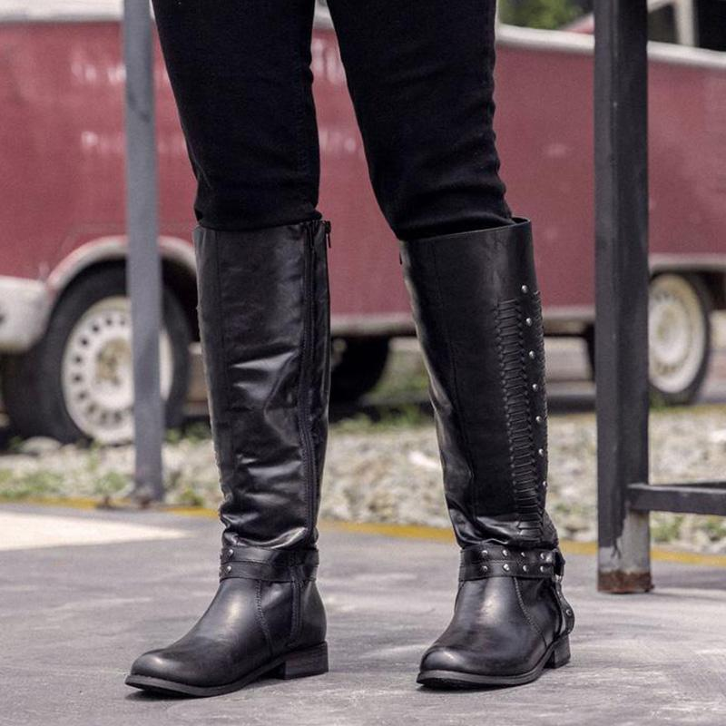Women Winter Side-zipper Knee-high Boota