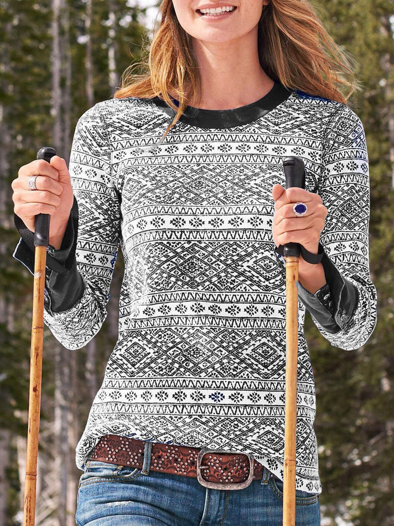 Geometric Long-Sleeved Shirt