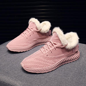 Winter Chic Faux Fur Low-boot Sneakers