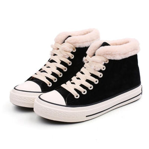 Winter Casual Warm Flat Ankle Sneakers