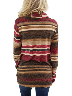 Loose Striped Long Sleeve T-shirt