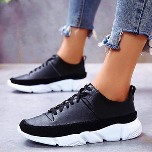 F/W New Black/White Low-boot Sneakers