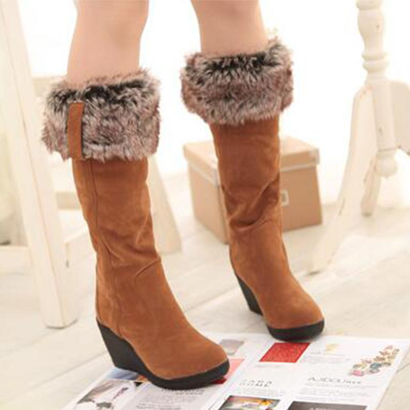 Wedge High Tube Snow Boots