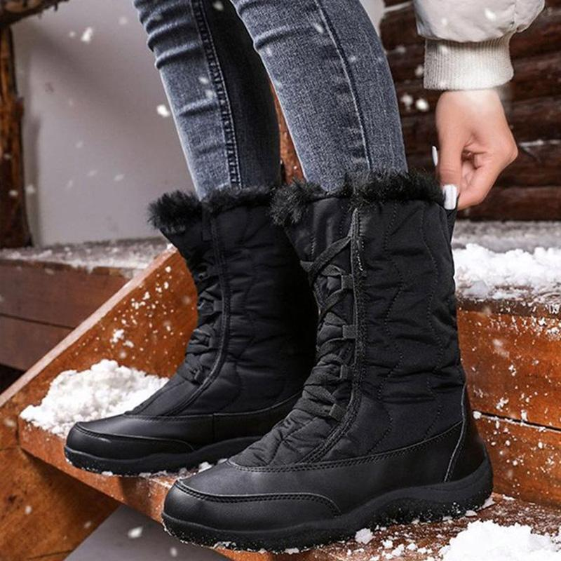 Women's Daily Waterproof Warm Low Heel Boots