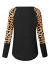 Leopard Print Long Sleeves Top