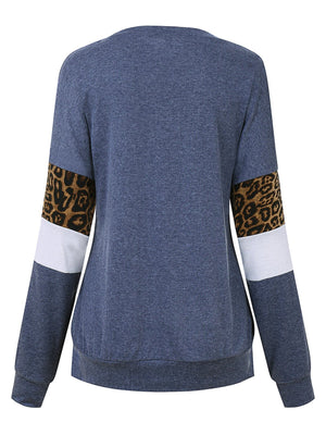 Thankful letter print Leopard Top