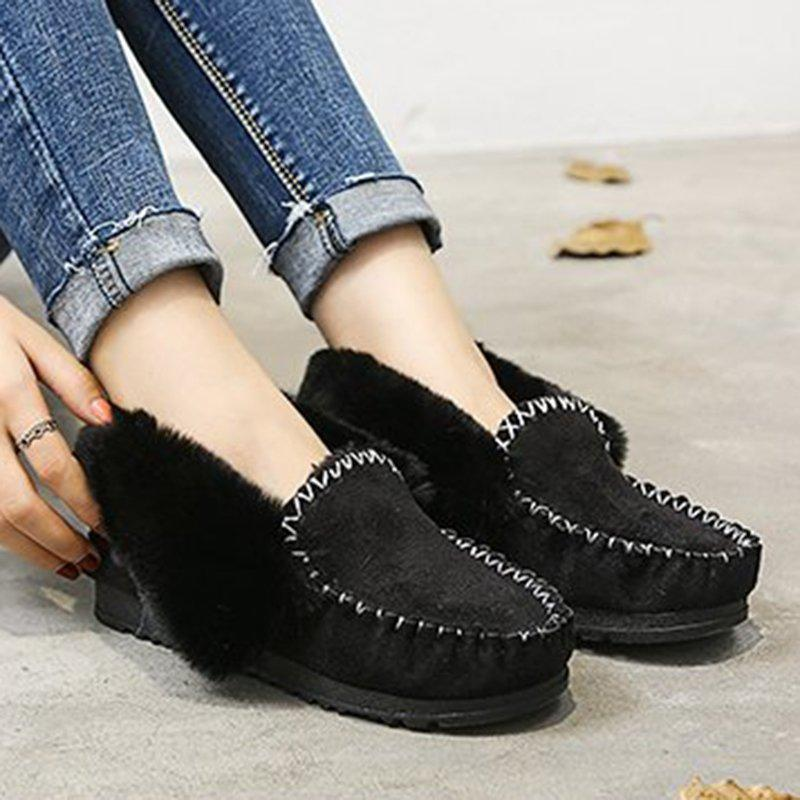 Women Snow Loafers Warm Booties Casual Shoes