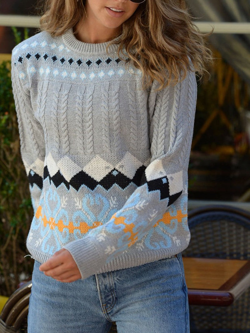 Casual Fair Isle Pullover Sweaters