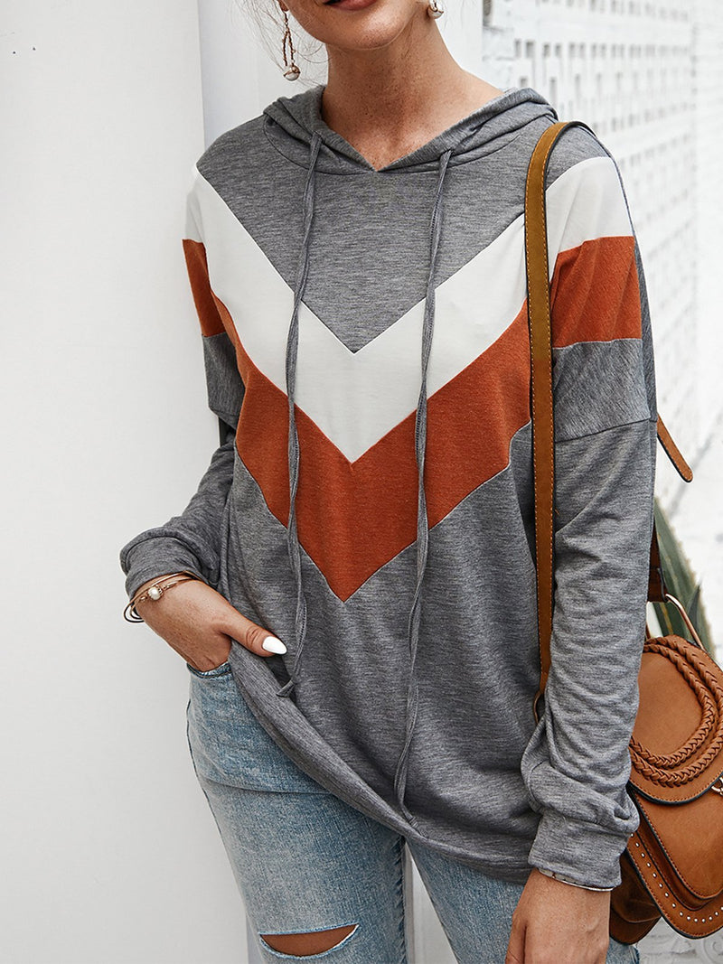 Long Sleeved Stripes Hoodies