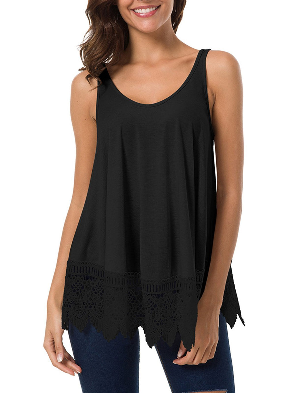Swing Lace Flowy Tank Top for Women